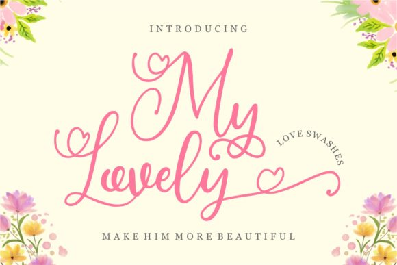 Print on Demand: My Lovely Script & Handwritten Font By goodjavastudio