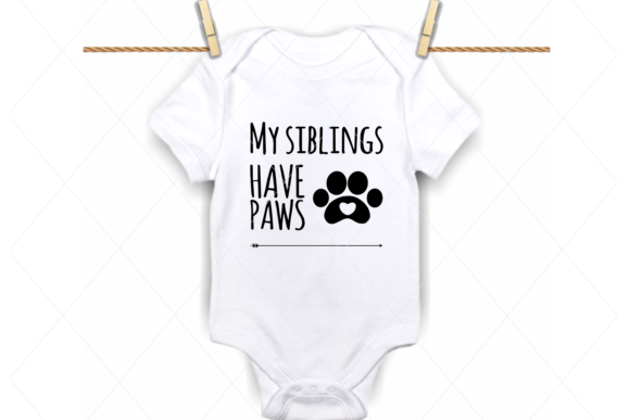 Print on Demand: My Siblings Have Paws Svg Graphic Crafts By TheLoveByrds