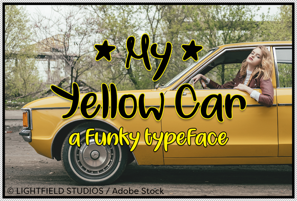 My Yellow Car Font