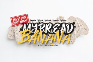 Print on Demand: MyBread Banana Duo Display Font By DK Project