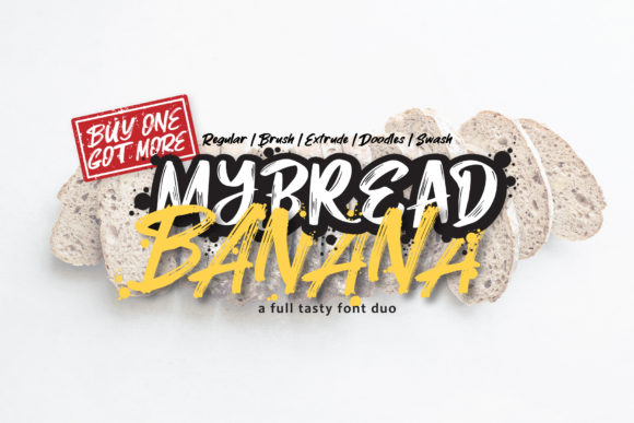 MyBread Banana Duo Display Font By DK Project