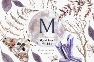 Print on Demand: Mystical Wilds Watercolor Set Graphic Objects By dinkoobraz