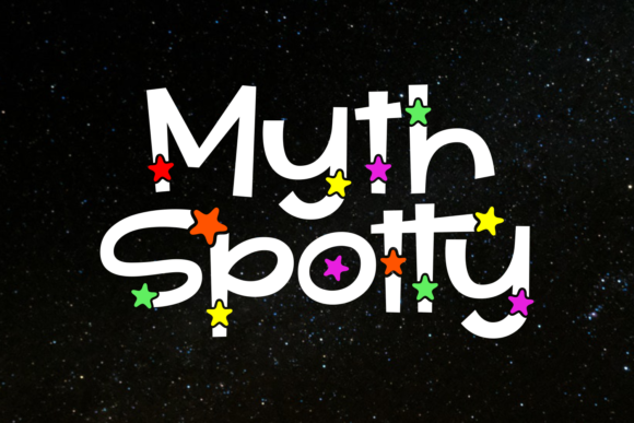 Print on Demand: Myth Spotty Display Font By Situjuh
