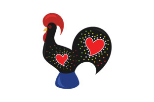 National Animal - Rooster Portugal Craft Cut File By Creative Fabrica Crafts