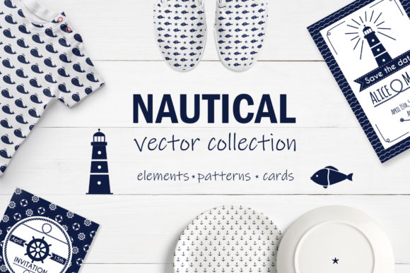 Nautical Collection Graphic Illustrations By Alisovna