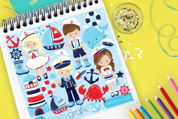 Print on Demand: Nautical Kids Graphic Illustrations By Prettygrafik