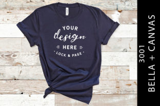Download Free Navy Bella Canvas 3001 T Shirt Mockup Graphic By Lockandpage for Cricut Explore, Silhouette and other cutting machines.
