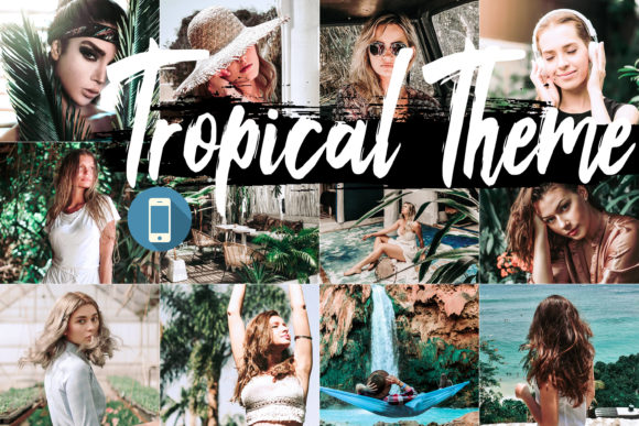 Print on Demand: Neo Tropical Mobile Lightroom Presets Graphic Actions & Presets By 3Motional