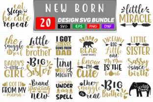 New Born Baby Bundle Graphic Crafts By SVGstore