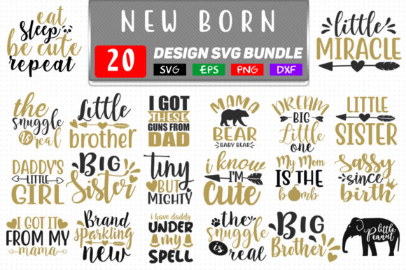New Born Baby Bundle Graphic Crafts By Handmade studio