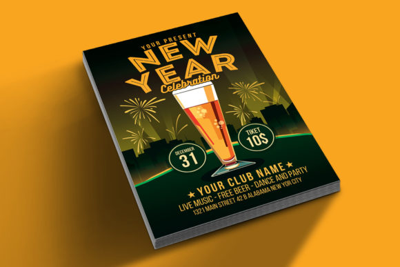 Download Free New Year Celebration Beer Party Grafico Por Muhamadiqbalhidayat for Cricut Explore, Silhouette and other cutting machines.