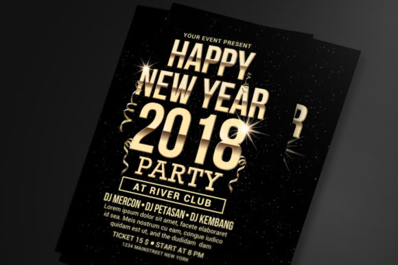 New Year Party Graphic Print Templates By muhamadiqbalhidayat
