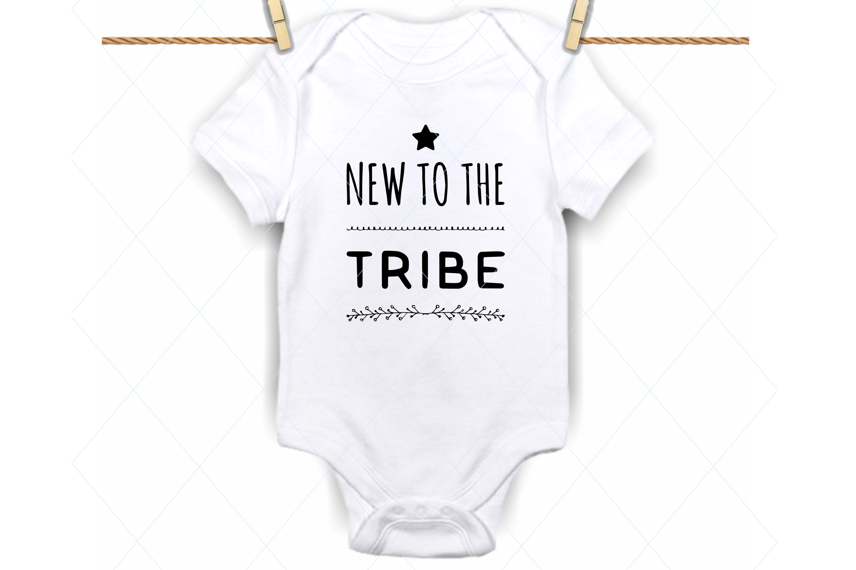 Download Free New To The Tribe Svg Baby Onesie Svg Graphic By Thelovebyrds for Cricut Explore, Silhouette and other cutting machines.