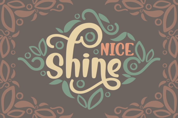 Print on Demand: Nice Shine Script & Handwritten Font By Rifki (7ntypes)
