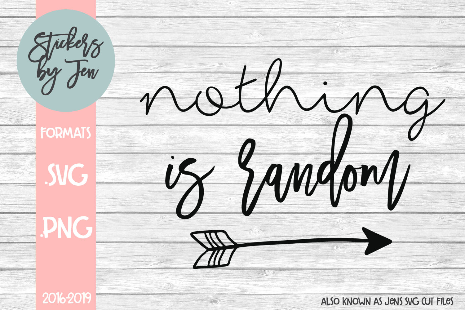 Download Free Nothing Is Random Svg Graphic By Stickers By Jennifer Creative for Cricut Explore, Silhouette and other cutting machines.