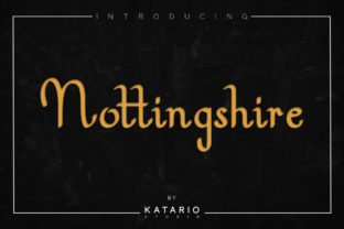 Print on Demand: Nottingshire Serif Font By Katario Studio