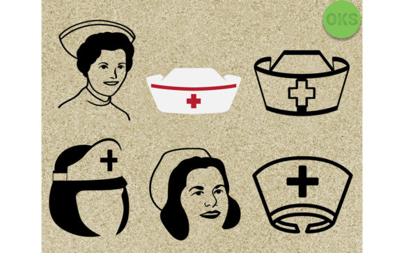 Download Free Nurse Cap Vector Graphic By Crafteroks Creative Fabrica for Cricut Explore, Silhouette and other cutting machines.