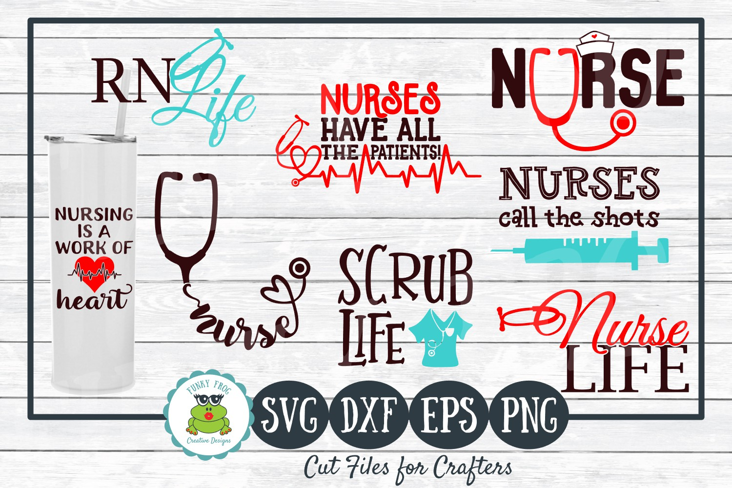 Download Free Nurse Life Design Bundle Graphic By Funkyfrogcreativedesigns for Cricut Explore, Silhouette and other cutting machines.