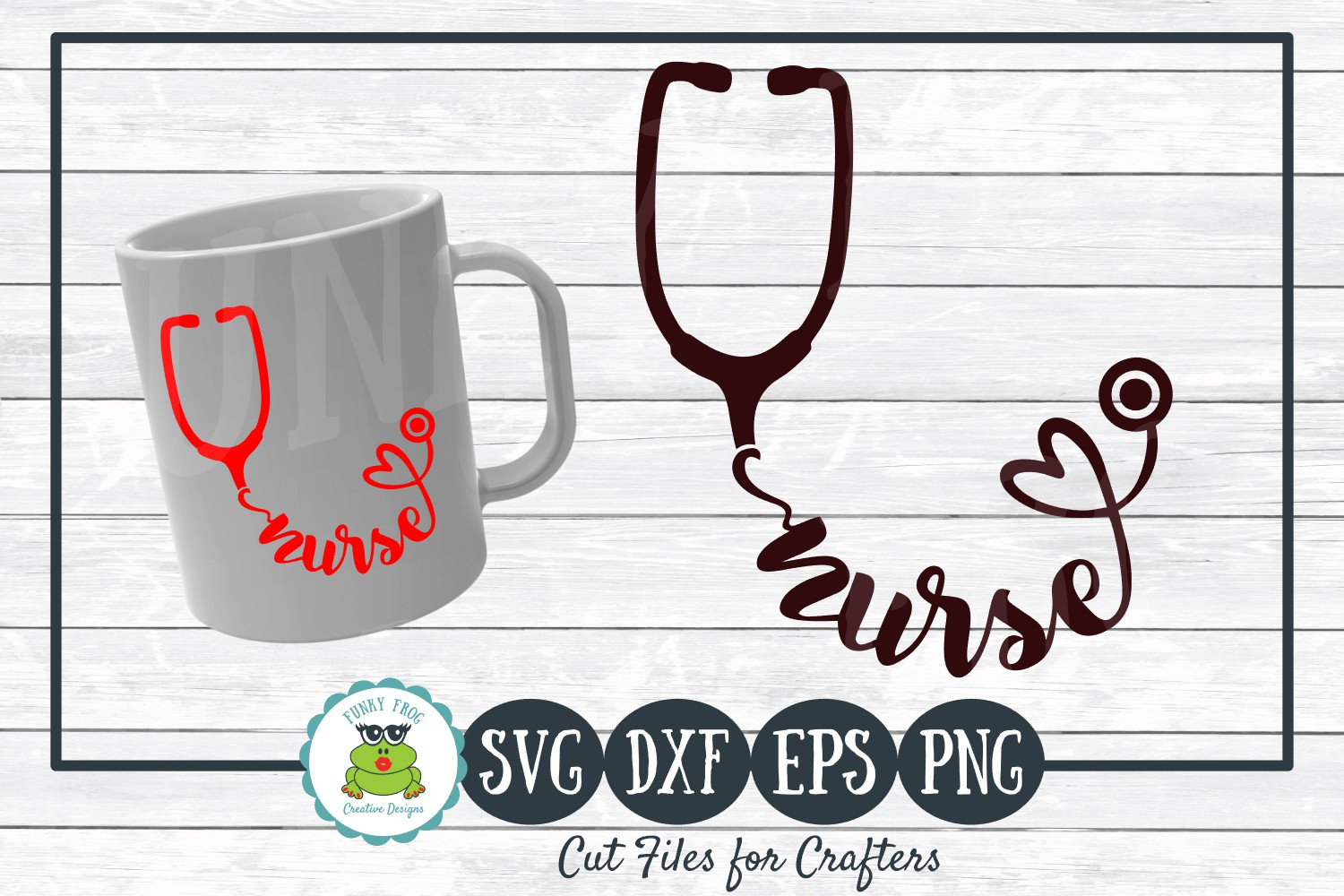 Download Free Nurse Stethoscope Graphic By Funkyfrogcreativedesigns Creative for Cricut Explore, Silhouette and other cutting machines.
