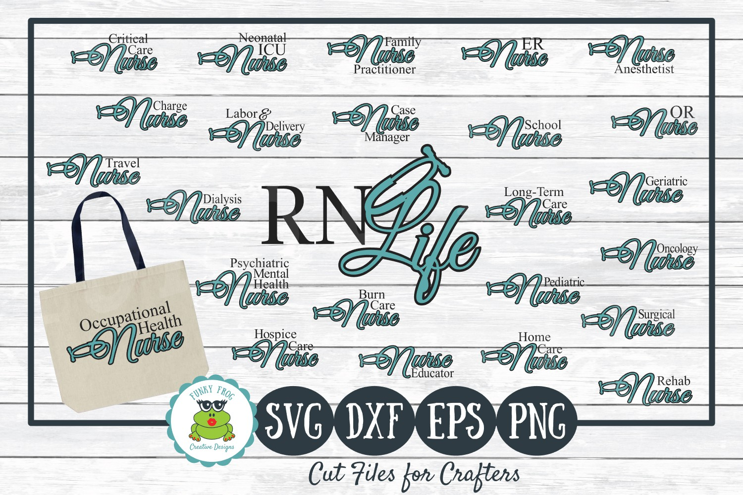 Download Free Nursing Titles Bundle Graphic By Funkyfrogcreativedesigns for Cricut Explore, Silhouette and other cutting machines.