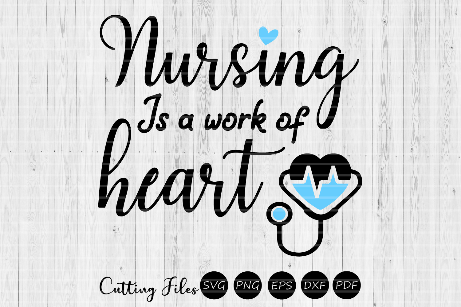 Download Free Nursing Is A Work Of Heart Nurse Svg Graphic By Hd Art Workshop for Cricut Explore, Silhouette and other cutting machines.