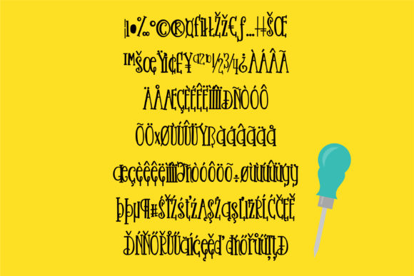 Nuts and Bolts Font By Illustration Ink Image 2