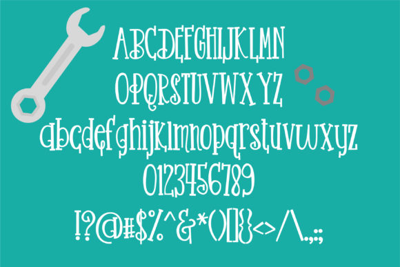 Nuts and Bolts Font By Illustration Ink Image 5
