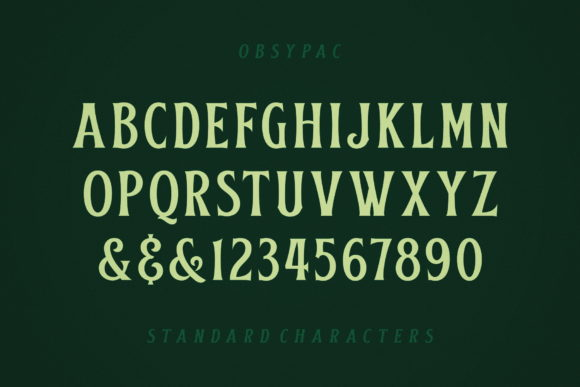Print on Demand: Obsypac Display Font By Fontdation - Image 6