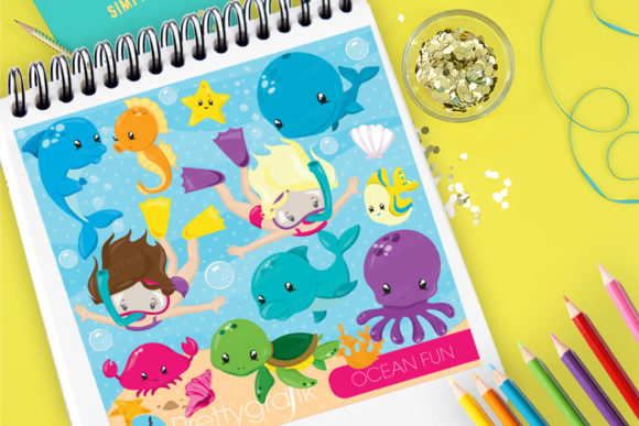 Print on Demand: Ocean Fun Graphic Illustrations By Prettygrafik