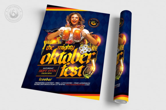 Oktoberfest Flyer Template V11 Graphic By ThatsDesignStore Image 3