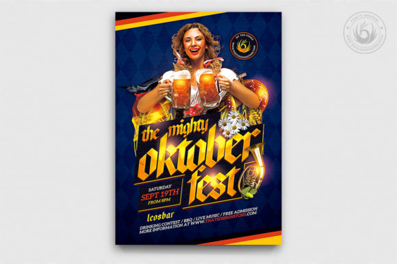 Oktoberfest Flyer Template V11 Graphic By ThatsDesignStore Image 1