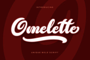 Omelette Font By RezaDesign