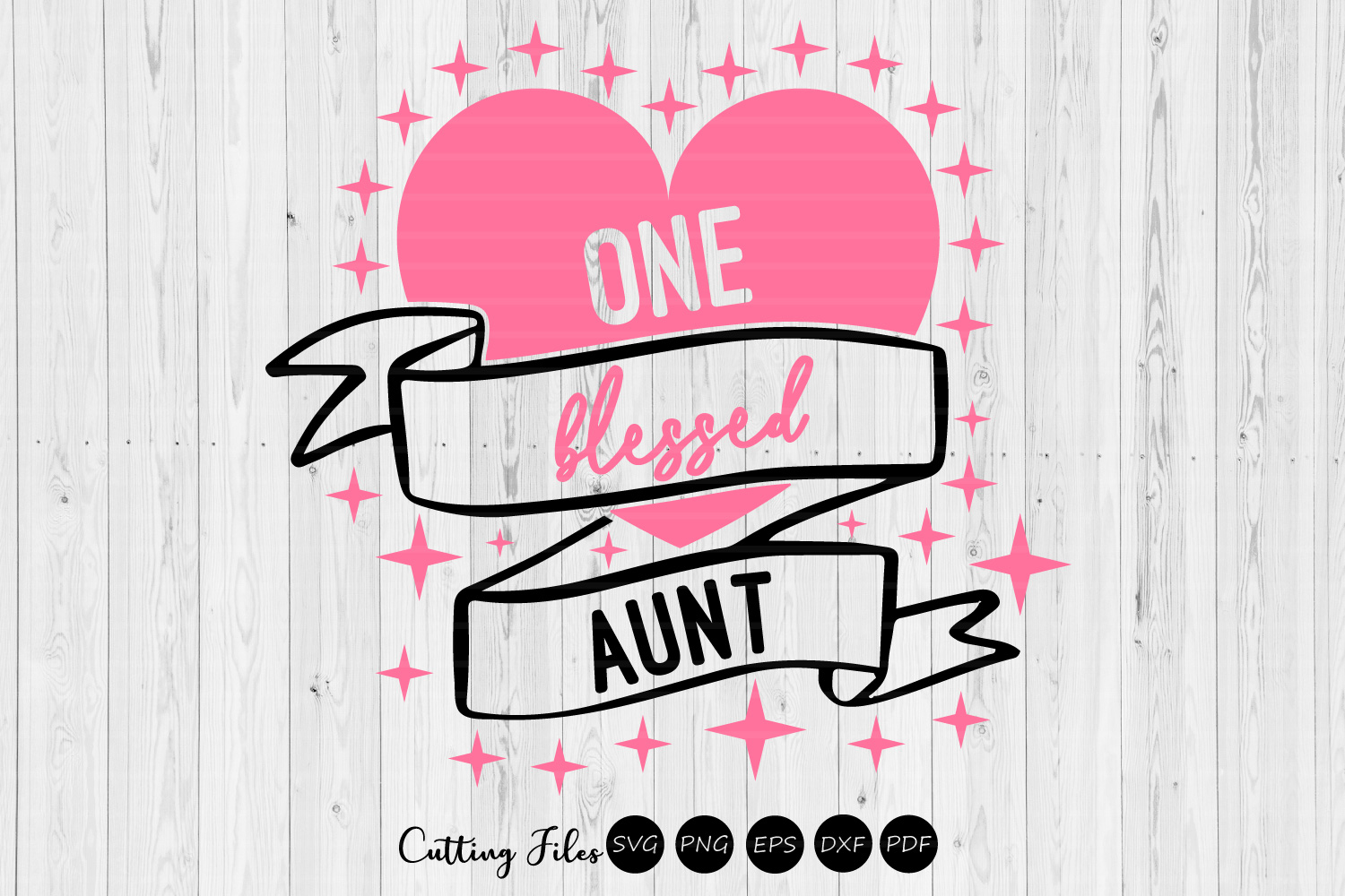 Download Free One Blessed Aunt Svg Cut File Graphic By Hd Art Workshop for Cricut Explore, Silhouette and other cutting machines.