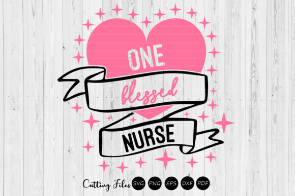 Download Free One Blessed Nurse Graphic By Hd Art Workshop Creative Fabrica for Cricut Explore, Silhouette and other cutting machines.
