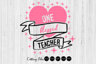 Download Free One Blessed Teacher Graphic By Hd Art Workshop Creative Fabrica for Cricut Explore, Silhouette and other cutting machines.