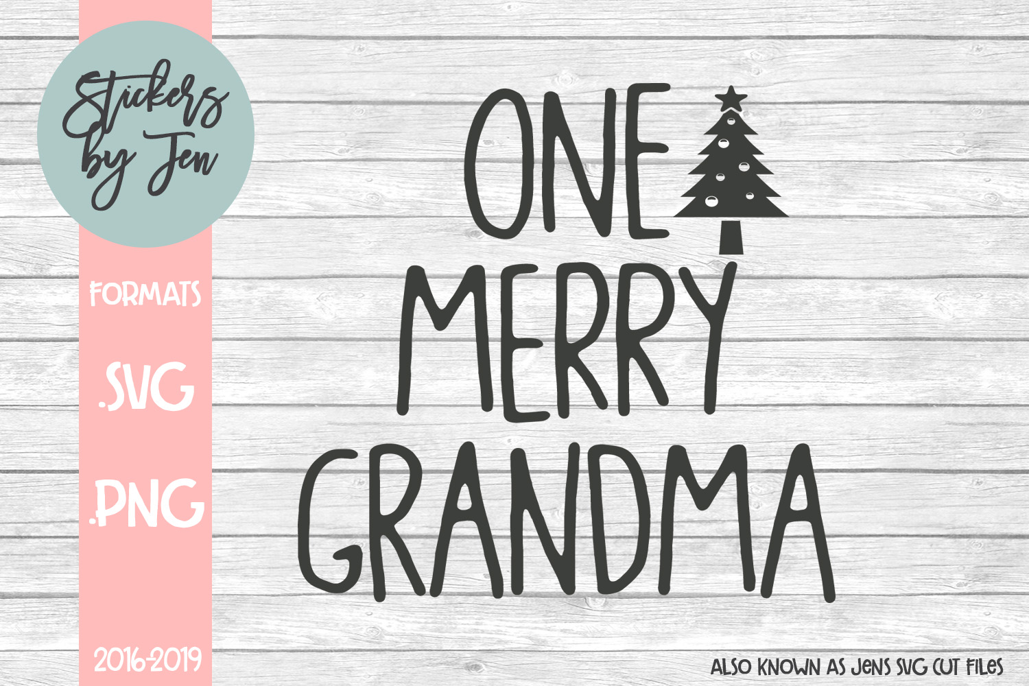 Download Free One Merry Grandma Svg Graphic By Stickers By Jennifer Creative for Cricut Explore, Silhouette and other cutting machines.