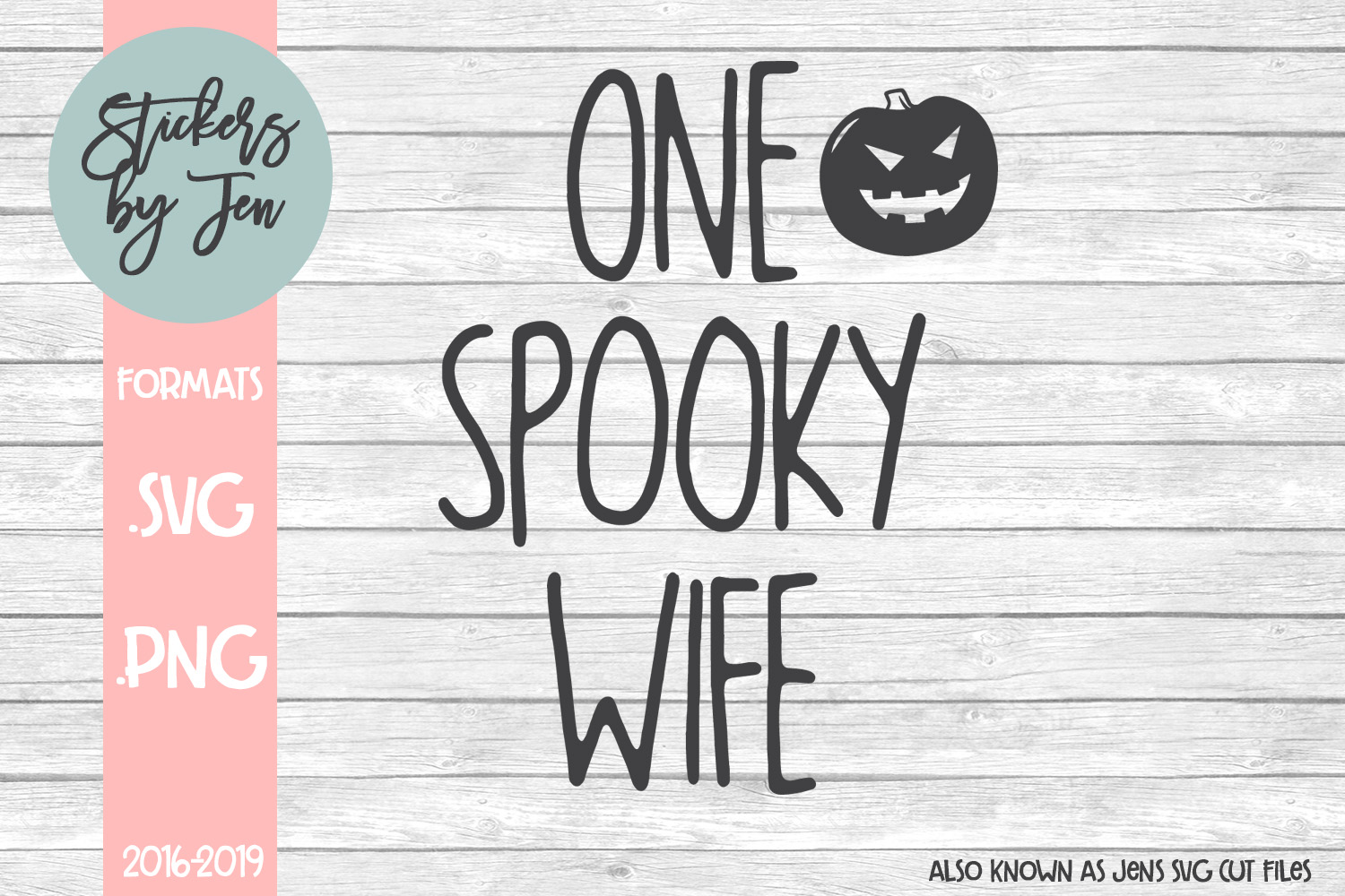 Download Free One Spooky Wife Svg Graphic By Stickers By Jennifer Creative for Cricut Explore, Silhouette and other cutting machines.