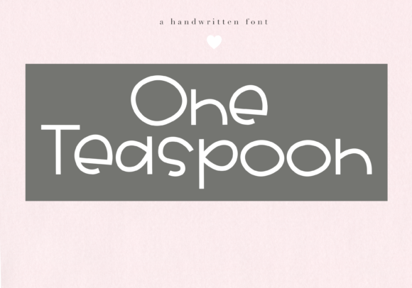 Print on Demand: One Teaspoon Display Font By KA Designs