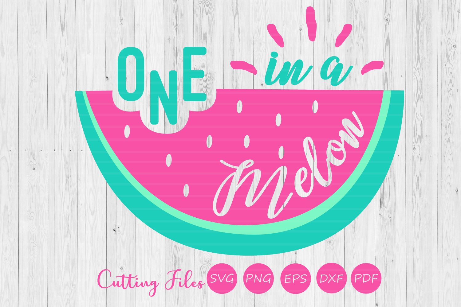 Download Free One In A Melon Summer Svg Graphic By Hd Art Workshop Creative for Cricut Explore, Silhouette and other cutting machines.