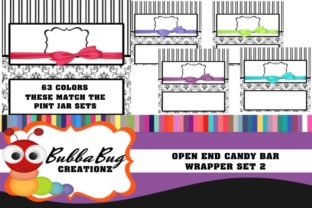Open End Candy Wrapper Set 2 Graphic Crafts By BUBBABUG