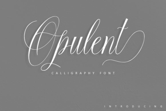 Print on Demand: Opulent Script Script & Handwritten Font By dataibayt