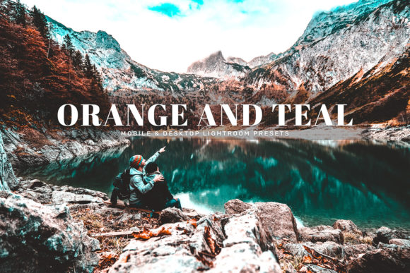 Print on Demand: Orange and Teal Lightroom Presets Graphic Actions & Presets By Creative Tacos