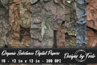 Organic Substance Digital Papers Graphic By Heidi Vargas-Smith