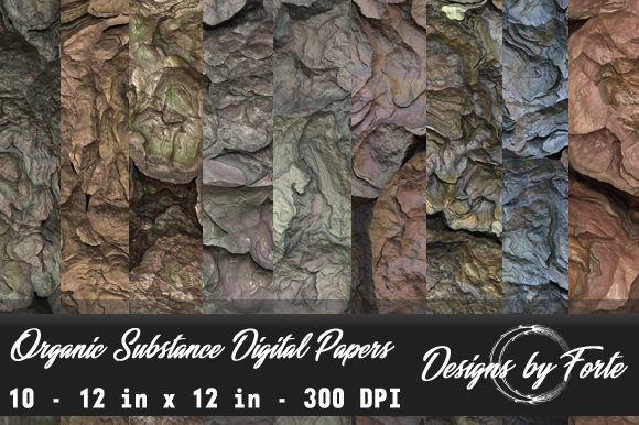 Print on Demand: Organic Substance Digital Papers Graphic Textures By Heidi Vargas-Smith