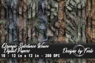 Organic Substance Weave Digital Papers Graphic By Heidi Vargas-Smith