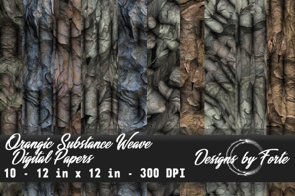 Print on Demand: Organic Substance Weave Digital Papers Graphic Textures By Heidi Vargas-Smith