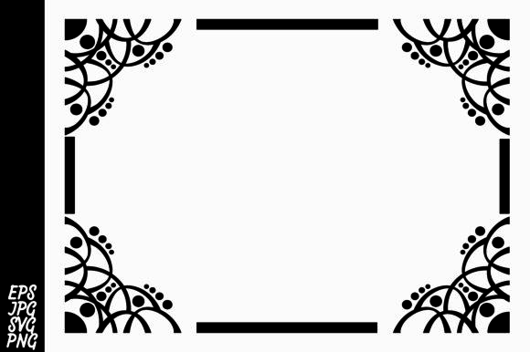 Print on Demand: Ornament Border SVG Graphic Illustrations By Arief Sapta Adjie - Image 1