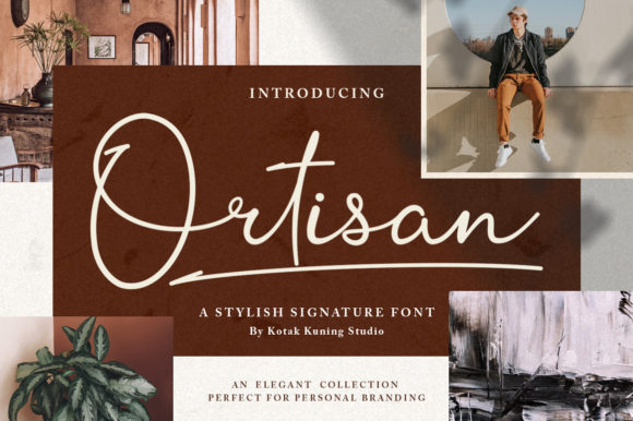 Print on Demand: Ortisan Script & Handwritten Font By Kotak Kuning Studio