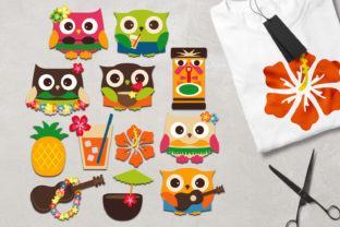 Download Free Owl Hawaii Graphic By Revidevi Creative Fabrica for Cricut Explore, Silhouette and other cutting machines.
