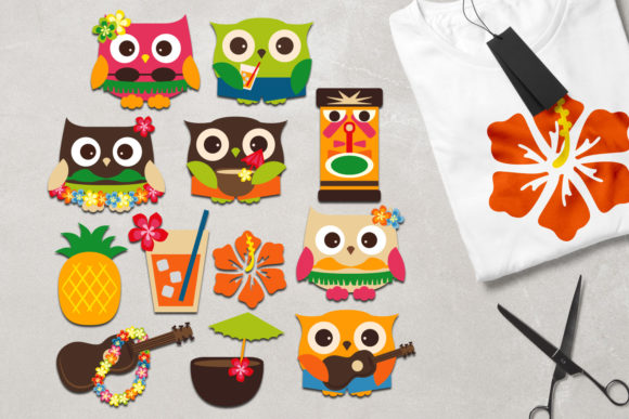 Print on Demand: Owl Hawaii Graphic Illustrations By Revidevi